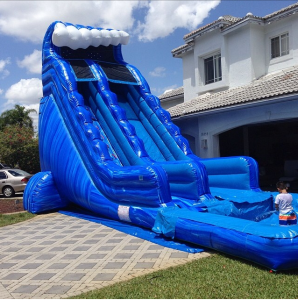 22FT BLUE MARBLE WAVE WATERSLIDE (15X32)